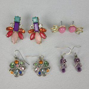 Bright Color Rhinestone Earrings